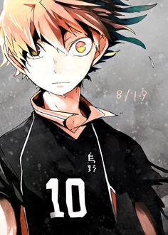 古兵、烏野の復活 by N沢 [pixiv] -- I really dig this. People forget how obsessive Hinata actually can be, in a game situation.