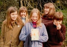 Suzanna Hamilton, Lesley Bennett, Sophie Neville, Kit Seymour and Simon West before their hair was cut for the filming of SWALLOWS& AMAZONS in 1973