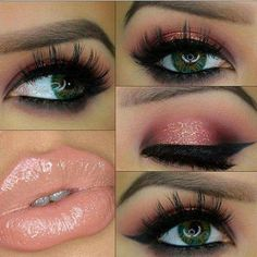 Great makeup for hazel eyes