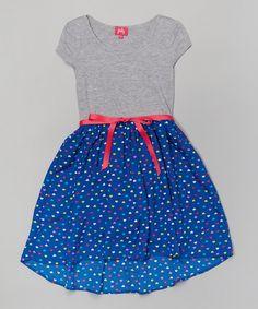 Look at this #zulilyfind! Zunie & Pinky Royal Heart Dress - Girls by Zunie & Pinky #zulilyfinds