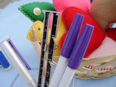 Sewing With Kids: The Sewing Basket, Part III - Measure, Mark, Sew