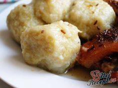 Bosáky (drbáky, chlupáče) Czech Recipes, Ethnic Recipes, Dumplings, Mashed Potatoes, Cauliflower, Food And Drink, Healthy Recipes, Baking, Vegetables