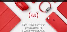 Manzanas rojas en el Apple Store dia mundial del SIDA -
