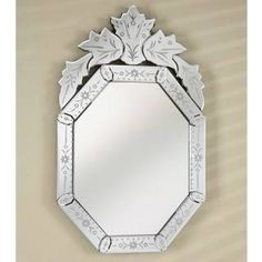 Check out the Afina RM-104 Radiance Venetian Octagon Traditional Cut Glass and Etched Wall Mirror priced at $386.75 at Homeclick.com.