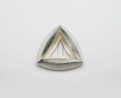 Silke Trekel - brooch, 2006 silver (hammered) - 65 x 65 x 20 mm