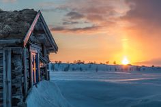 Sunset in Lapland by Markus Kiili.