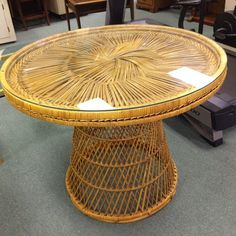 great vintage wicker table Wicker Table, Thrifting, Furniture, Vintage, Home Decor, Decoration Home, Room Decor, Budget, Home Furnishings