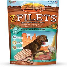 ZFilets Select Grain Free Dog Treat Grilled Venison 75 oz -- Check out the image by visiting the link.