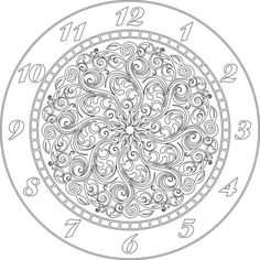 Clock face vector file eps for V-bit cnc carving by Digital2Cre8
