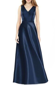 5063754ee99 Alfred Sung Sleeveless Sateen Gown. Dress CodesHijab JeansBridesmaid DressesWedding  DressesBridesmaidsFull Length ...