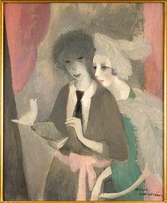 Femmes à la Colombe (Women with Dove) (1919) by Marie Laurencin (1883-1956) Collection Centre Pompidou / Réunion des musées nationaux