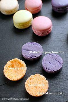 Silpat versus Parchment.                                              Not So Humble Pie: Macaron 101: French Meringue