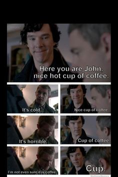 I haven't yet watched Sherlock (it's next) but this is hilarious