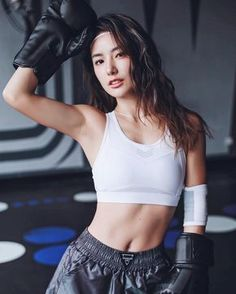 Are Asian girls kickboxing speaking, would