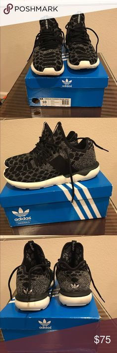 Men 's Adidas Tubular Runner Size 10.5 Worn Twice Great Condition With Box