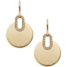 Michael Kors City Disc Earrings ($125) ❤ liked on Polyvore featuring jewelry, earrings, gold, disc earrings, michael kors earrings, gold earrings, gold jewelry and yellow gold jewelry
