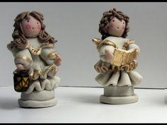 Come fare un angelo in piedi in pasta di mais/ceramica fredda 1° prima parte - standing angel part 1 - YouTube