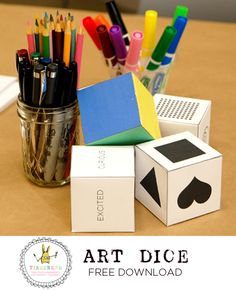 One of my very favorite activities for encouraging creativity is an art prompt that I call Art Dice. You can read more about how to use art dice over here. Here's a little blurb about it, in case you want to stick with me here for a moment: Art Dice is a fun prompt/tool/game for creating randomly generated art. Every …