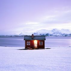 'The little red house' on the Lofoten Islands