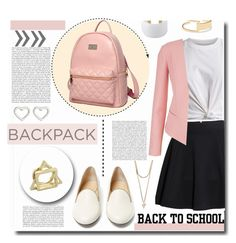 """Back to School: New Backpack"" by kts-desilva ❤ liked on Polyvore"