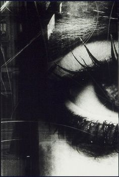 Daido MORIYAMA :: from It. I like how the image is cut off at the side maiking the eye look lazy. I like the way that the artist makes you come up with the rest of the face and what expression the person has on their face.