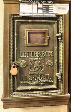 Classic vintage letter-box at Jefferson Davis Hotel, Montgomery, AL