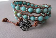 African Amazonite and Matte Silver Seed Beads by NoGlitzNoGlory