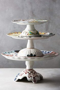Unlikely Symmetry Cake Stand - anthropologie.com