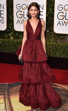 2016 Golden Globes Red Carpet Arrivals Zendaya, Golden Globe Awards