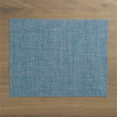 Chilewich® Crepe Aqua Placemat  | Crate and Barrel