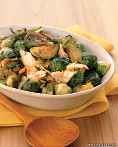"See the ""Spicy Roasted Brussels Sprouts"" in our  gallery"