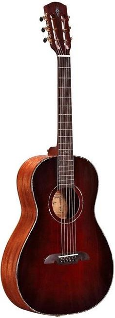 Alvarez MPA66 Masterworks Parlor Guitar. This guitar features solid African mahogany for the top, back and sides.