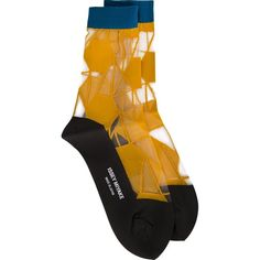 Issey Miyake sheer panel socks (5.190 RUB) ❤ liked on Polyvore featuring intimates, hosiery, socks, socks/tights and issey miyake