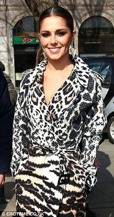 Cheryl Cole at Roberto Cavalli MFW
