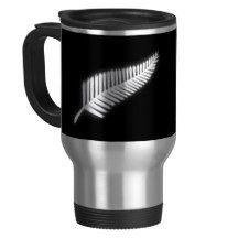 NZ Silver Fern National Emblem Patriotic Gift Travel Mug