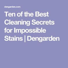 Ten of the Best Cleaning Secrets for Impossible Stains   Dengarden