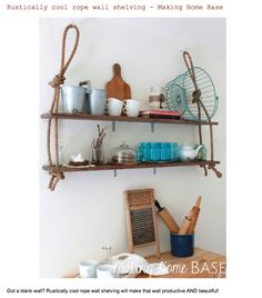 How rope-tastic are these shelves!