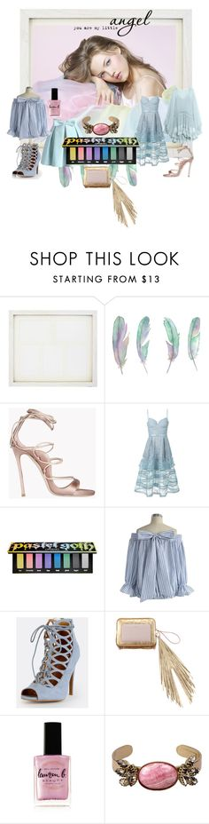 """""""angel of the week"""" by snowmoon ❤ liked on Polyvore featuring New View, Dsquared2, Chicwish, self-portrait, Kat Von D, The Volon, Lauren B. Beauty, Isabel Marant and Chloé"""