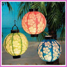 tropical party lanterns - Google Search
