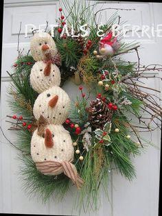 Snowman Wreath ... soo cute!
