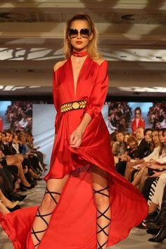 Kristína Činčurová in dress by Jana Pištejová (Bratislava Fashion Days 2017)