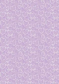 Valentine's Day Scrapbook Paper Purple Heart Background