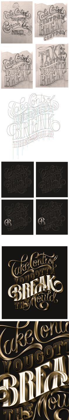 Love this peak into the process of lettering. By Luke Ritchie via Behance