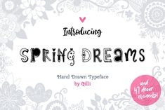 Hand Drawn Typeface on Creative Market. Digital design goods for personal or commercial projects. Graphic design elements and resources.