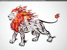 Flame Lion In Tribal Tattoo Design | Tattoo Foto | wilma | Fans teilen ...