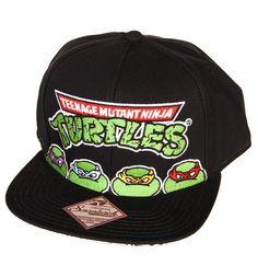 Black Teenage Mutant Ninja Turtles Snap Back Baseball Cap xoxo Black Baseball  Cap e6aa75f6cde1