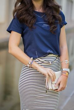 How  to mix a striped skirt like a PRO