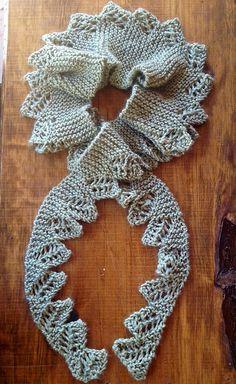 Ravelry: Conundrum Scarflette pattern by Hayley Foord Knitting Stitches, Knitting Patterns Free, Free Knitting, Shawl Patterns, Yarn Projects, Knitted Shawls, Hand Dyed Yarn, Crochet Yarn, Burlap Wreath