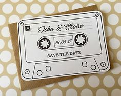 Cassettes picked for each guest cassette tape wedding invitations
