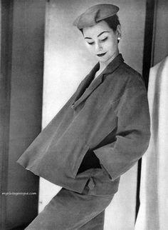 Anne Gunning, vintage models, Balenciaga, Glamour magazine, 1950s, Photography, Henry Clarke